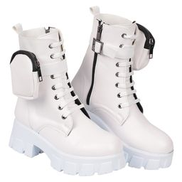 CapOne Outfitters Women's Casual boots WHITE - White Side-Pouch Combat Boot - Women   Zulily