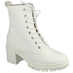 TOP MODA Women's Casual boots WHITE - White Dion Combat Boot - Women   Zulily