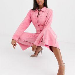 One Teaspoon washed pink boilersuit   ASOS (Global)