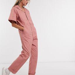 adidas Originals New Neutrals logo boilersuit in pink   ASOS (Global)