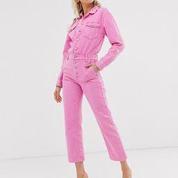 Miss Sixty washed pink denim boilersuit   ASOS (Global)