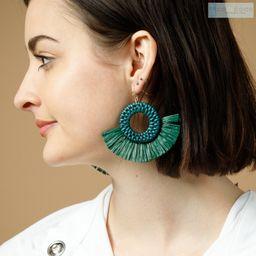 Colored Rattan earrings Statement earrings Geometric   Etsy   Etsy (CAD)