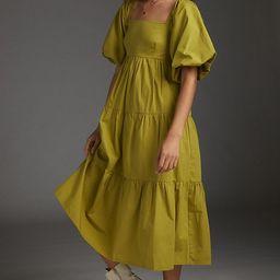 Faithfull Olive Tiered Midi Dress   Anthropologie (US)