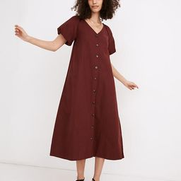 (Re)sponsible Bubble-Sleeve Button-Front Midi Dress | Madewell