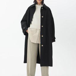 Oversized Linen Blend Coat   ARKET