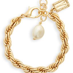 Karine Sultan Twisted Rope Imitation Pearl Charm Bracelet   Nordstrom   Nordstrom