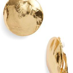 Karine Sultan Eva Shell Disc Clip-On Earrings   Nordstrom   Nordstrom