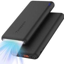 Amazon.com: 4 Ports Power Bank 30000mAh Super Bright Flashlight Portable Charger Quick Charge Pho...   Amazon (US)