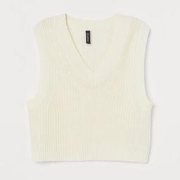 Short Sweater Vest | H&M (US)