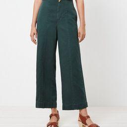 Seamed Twill Wide Leg Crop Pants | LOFT