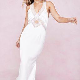 Lace Slip Satin Midi Dress | NastyGal