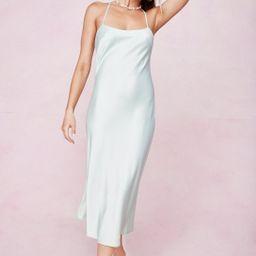Satin Cross Strap Midi Dress | NastyGal
