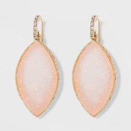 SUGARFIX by BaubleBar Gold Frame Druzy Drop Earrings - Blush | Target