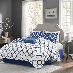 Geometric 7 Piece Bed-in-a-bag Reversible Comforter | Wayfair North America