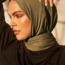 Bamboo Woven Hijab - Olive | Haute Hijab