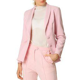 Women's Casual Lapel Collar Elegant Button Work Office Blazer Jacket XS Pink   Walmart (US)