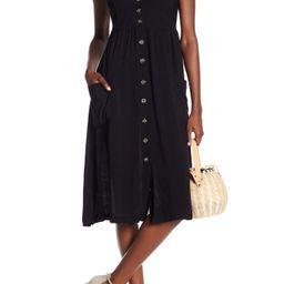GOOD LUCK GEM | Button Front Sleeveless Midi Dress | Nordstrom Rack | Nordstrom Rack