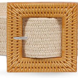 Fashion Wide Straw Woven Elastic Stretch Waist Band Belt Summer Bohemian Ladies Beach Dress Belts   Amazon (US)