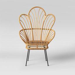 Avocet Rattan Fan Back Accent Chair - Opalhouse™ | Target