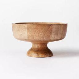 10.1oz Rubberwood Pedestal Serving Bowl – Threshold™ designed with Studio McGee   Target