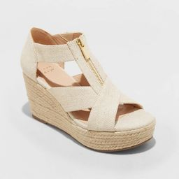 Women's Carrigan Front Zipper Espadrille Wedge Sandals - A New Day™   Target