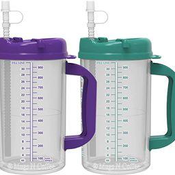 32 oz Whirley Insulated Travel Mugs Teal & Purple   Amazon (US)