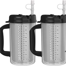 (2) 32 oz Hospital Mugs with Black Lids - Insulated Cold Drink Travel Mugs | Amazon (US)
