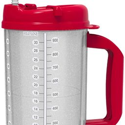32 oz Red Double Wall Insulated Hospital Mug - Cold Drink Mug - New Swivel Lid Design - Includes ...   Amazon (US)