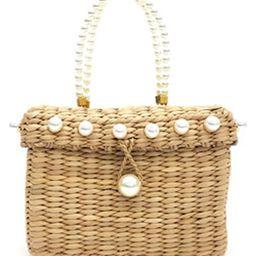Peggy Woven Corn Husk Top Handle Basket Bag | Nordstrom