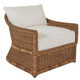Emilia Braided Lounge Chair, White | One Kings Lane