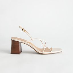 Strappy Leather Heeled Sandal | & Other Stories