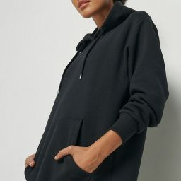 100% Recycled Hoodie Midi Dress | nu-in Nordics