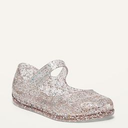 Glitter-Jelly Mary-Jane Flats for Toddler Girls | Old Navy (US)