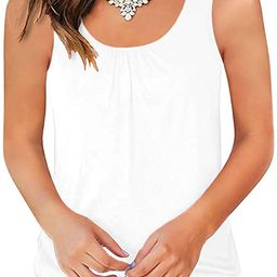 Traleubie Round Neck Workout Tank Tops for Women Casual Sleeveless Shirts Loose Fit | Amazon (US)