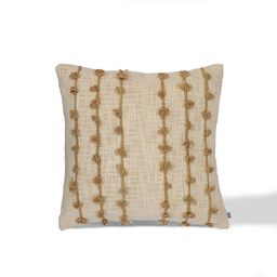 Isabella Square Throw Pillow in Beige | Bed Bath & Beyond | Bed Bath & Beyond