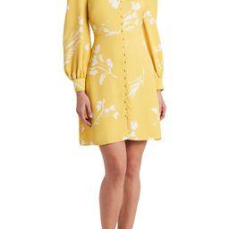 Floral Wisps Long Sleeve A-Line Dress | Nordstrom