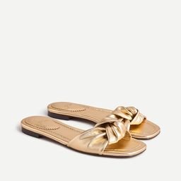 Knotted sandals in metallic leather | J.Crew US