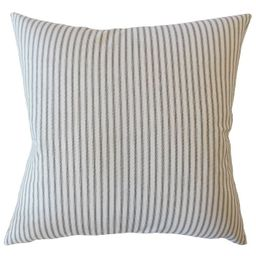"Stripe 20""x20"" Square Throw Pillow White/Blue - Pillow Collection | Target"