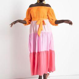 Off the Shoulder Ombre Dress   Eloquii