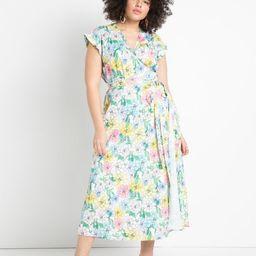 Satin Wrap Dress   Eloquii