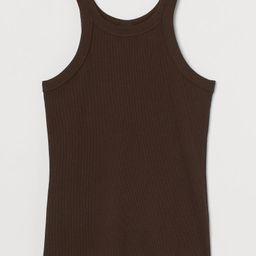 Ribbed vest top   H&M (UK, IE, MY, IN, SG, PH, TW, HK, KR)