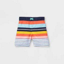 Toddler Boys' Retro Striped Swim Trunks - Cat & Jack™   Target