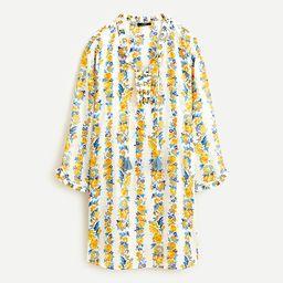 Cotton voile tunic in blossom stripe | J.Crew US