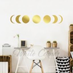 Moon Phases Wall Decal - Decor, Gold Phases, Modern Decals, Decal, Phase Art Ga169 | Etsy (US)