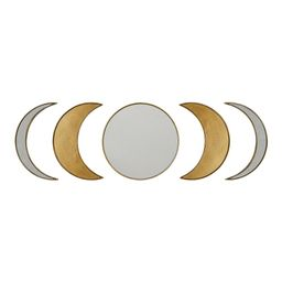 Stratton Home Decor Small Novelty Antique Gold Casual Mirror (10 in. H x 5.5 in. W) | The Home Depot