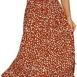 Lucien Hanna Women's Summer Tie Straps Cotton Sleeveless Irregular Polka Dot Ruffles Midi Dress   Amazon (US)