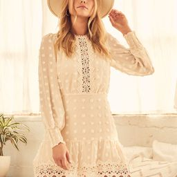 Lust or Love Cream Embroidered Lace Long Sleeve Dress | Lulus (US)