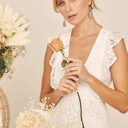 Molinetto White Lace Ruffled Tiered Sleeveless Maxi Dress | Lulus (US)