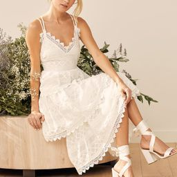 All Is Love White Embroidered Tiered Midi Dress | Lulus (US)