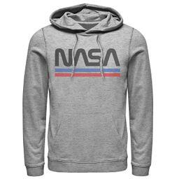 Men's NASA Red Blue Stripe Minimal Logo Vintage Graphic Hoodie | Kohl's